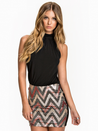 ZIGZAG S/L DRESS JRS