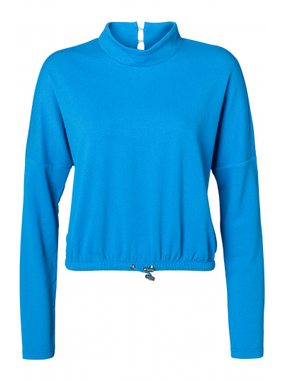 LEAH L/S TOP BLUE