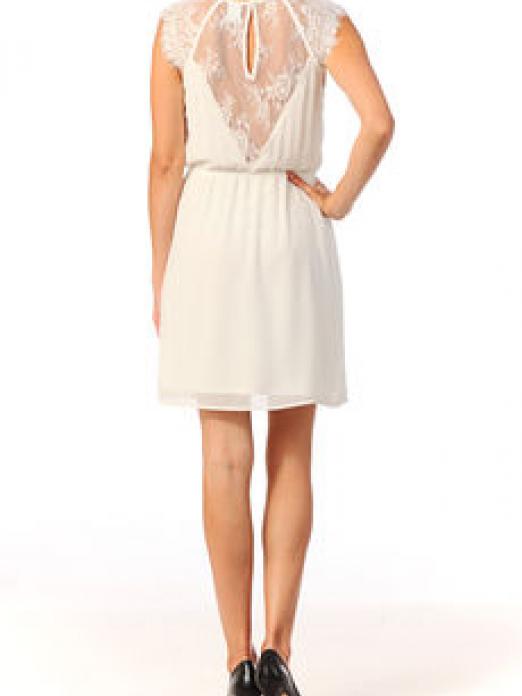 LIV LACE S/L SHORT DRESS EX7