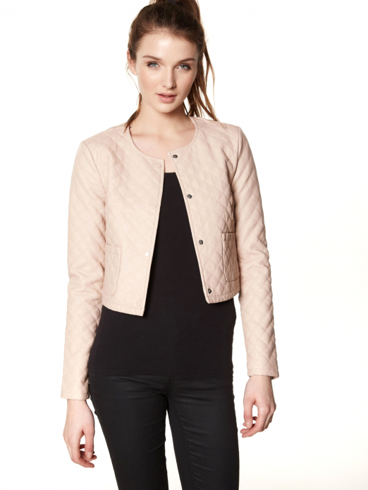 UNIQUE SHORT PU SLIM JACKET