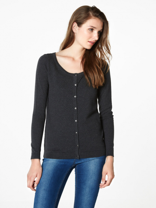 CARE STRUCTURE LS O-NECK CARDIGAN NOOS