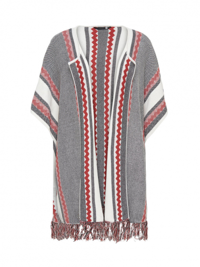Poncho Woman Grey Only