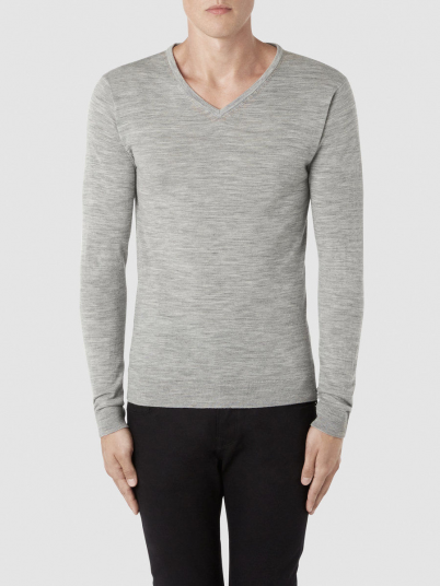Sweatshirt Man Grey Selected