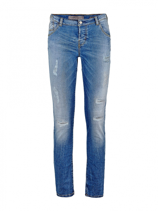 authentic soft and light new images of GUESS WOMAN SKINNY BOYFRIEND JEANS