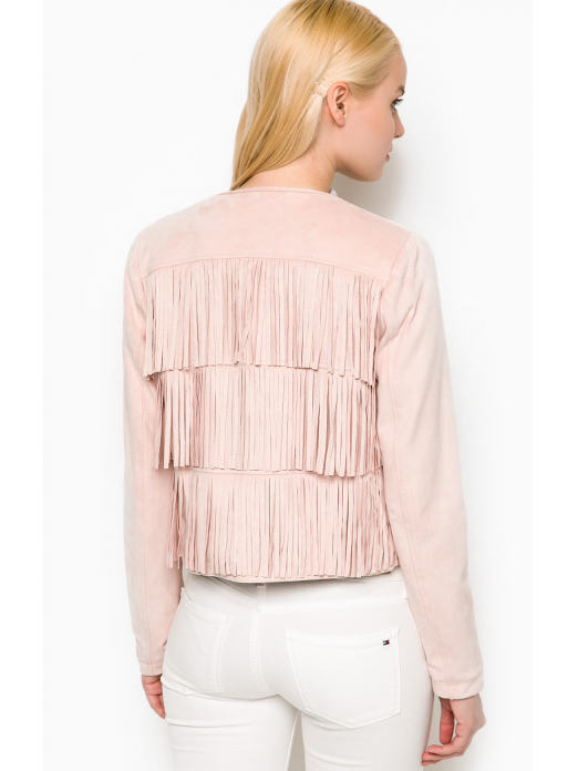 EDINA CREME SHORT FAKE SUEDE JACKET