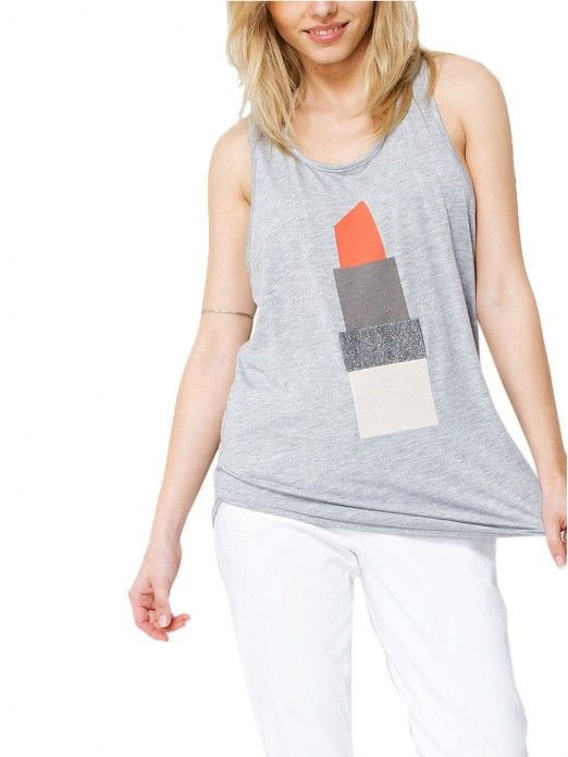 Blusa Mujer Gris Noisy May
