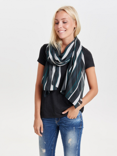 TAVA STRIPE WEAVED LONG SCARF