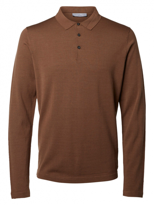 Polo Shirt Man Camel Selected