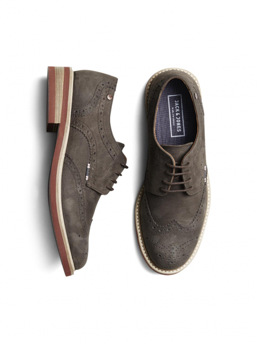 SMART NUBUCK BROGUE SHOE JAVA