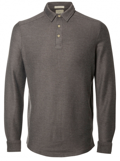 Polo Shirt Man Grey Selected