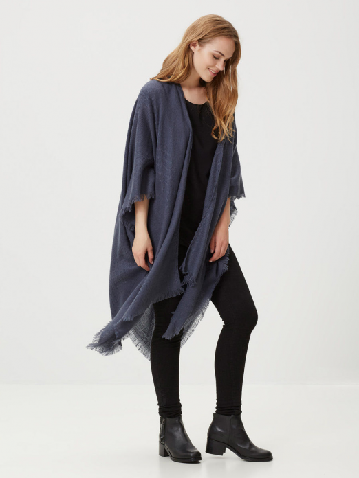 Poncho Woman Blue Vero Moda