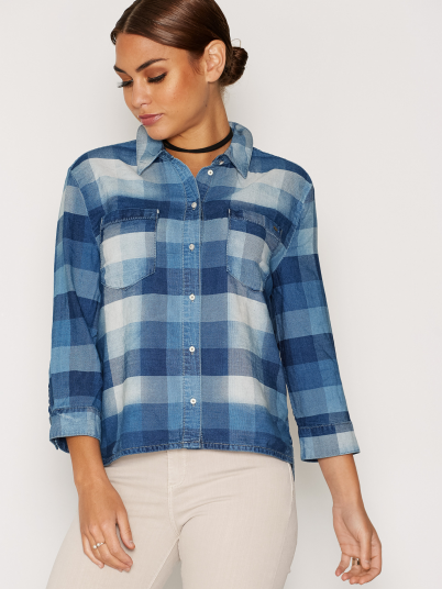 CAMISA MULHER NORI BUTTON CHECK ONLY