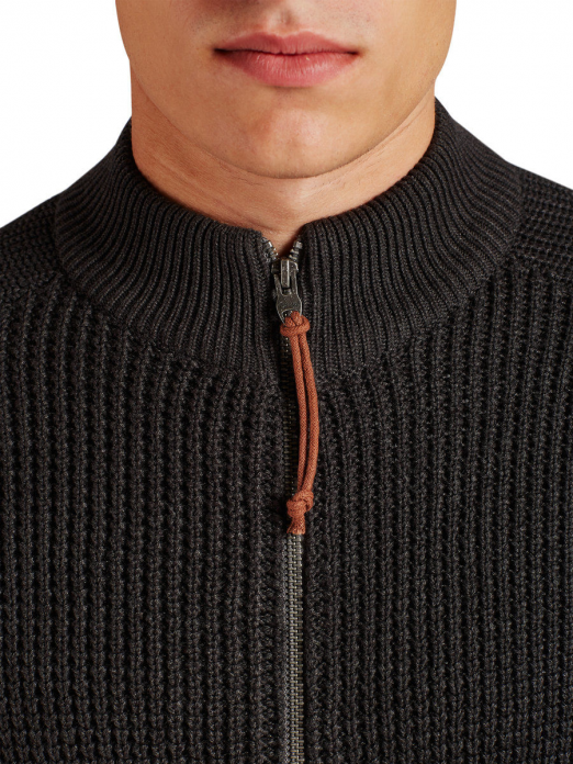 WATERFORD KNIT HIGH NECK CARDIGAN