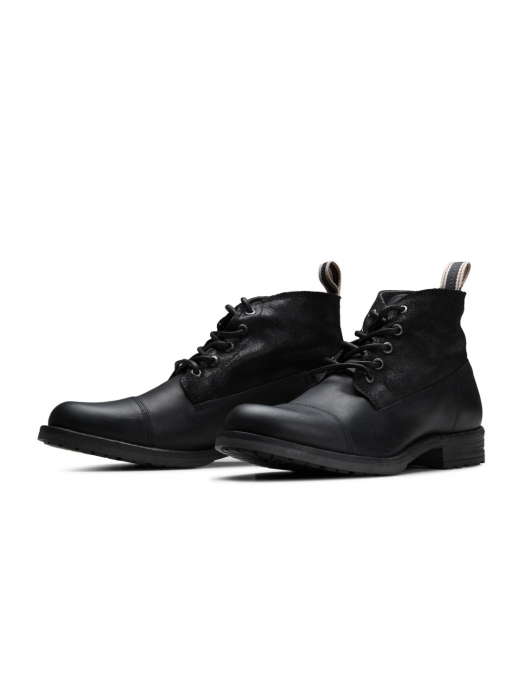 Leather Mid Boot Anthracite
