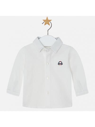 Camisa manga comprida com laço para bebé menino Mayoral