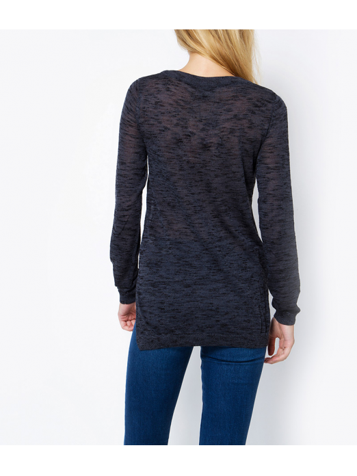 BLACKE LS HIGH/LOW V-NECK BLOUSE NOOS
