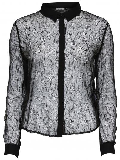 Joelle L/s Lace Shirt Wvn
