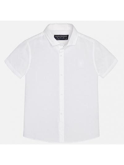 Camisa de menino manga curta em linho