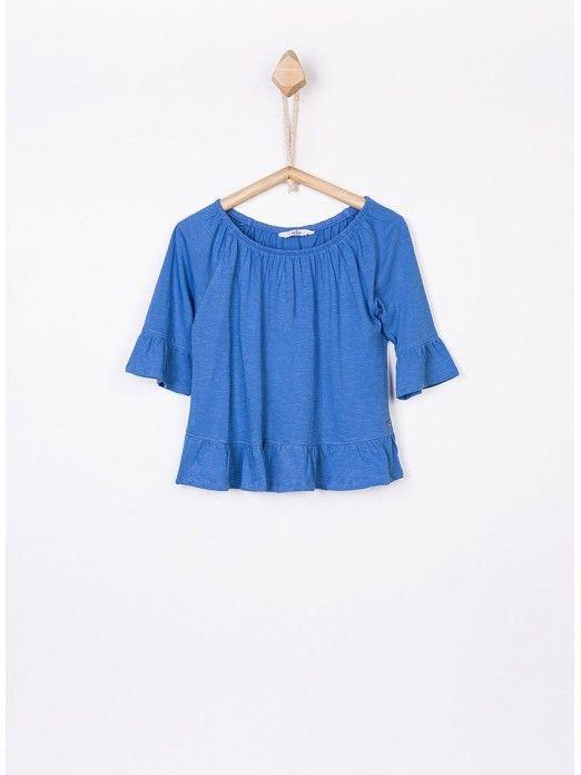 Shirt Girl Blue Tiffosi Kids