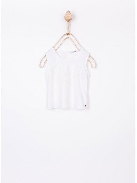 Shirt Girl Cream Tiffosi Kids