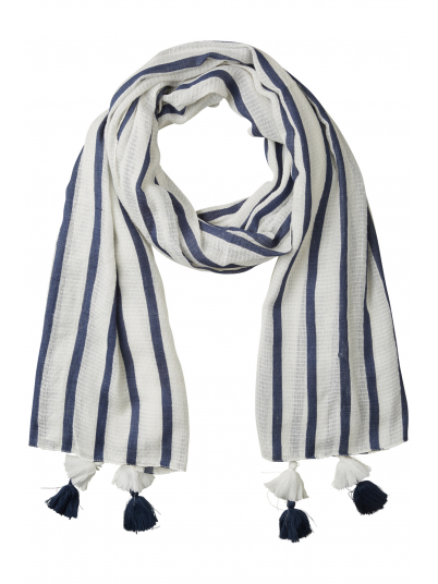 Scarf Woman Blue Stripe Vero Moda