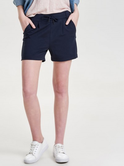 Shorts Woman Navy Blue Only