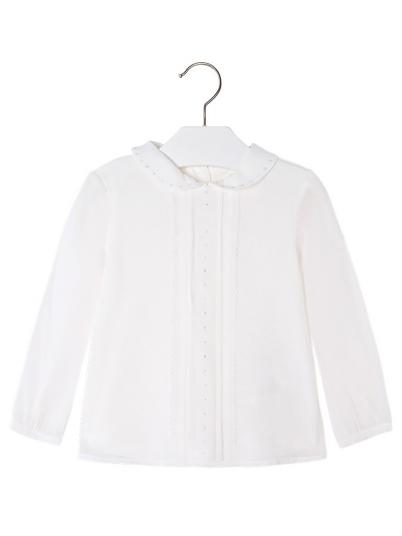 Blusa de menina manga comprida com strass Mayoral