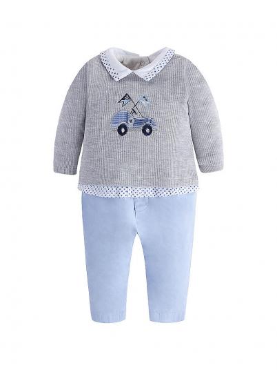 Fato de bebé menino com calça em sarja Mayoral