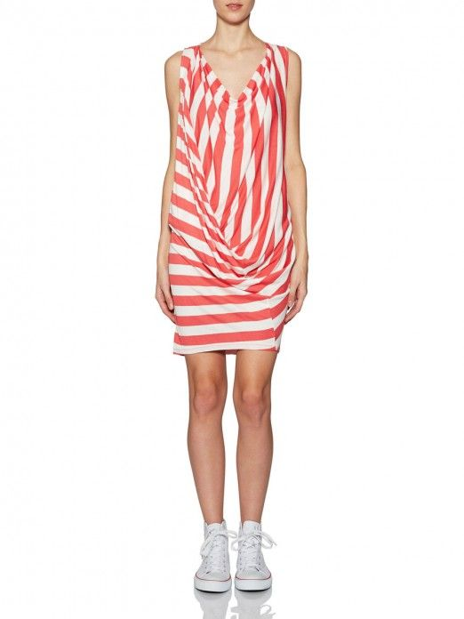 ZELDA VIP S/L STRIPE DRESS NFS