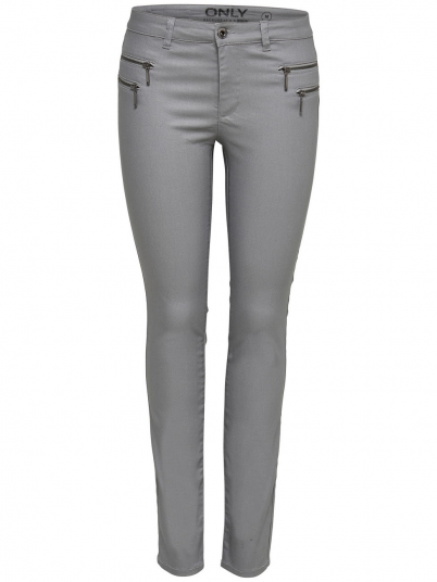 Pantalones Mujer Gris Only