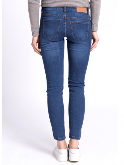 EVE LW SS DESTROY JEANS MD BL NS