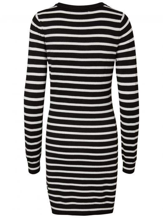 Dress Woman Black Stripe Vero Moda