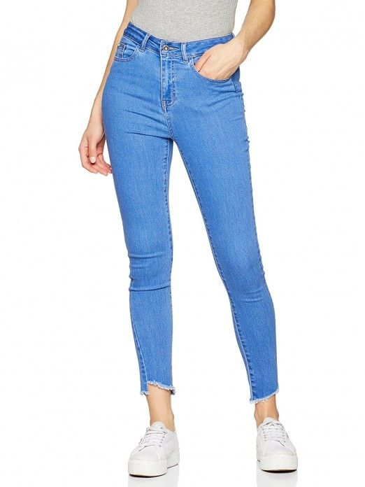 JEANS NINE HW SLIM UNEVEN ANKLE