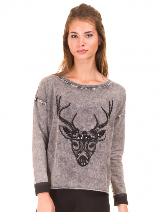 Sweatshirt Woman Grey Vero Moda