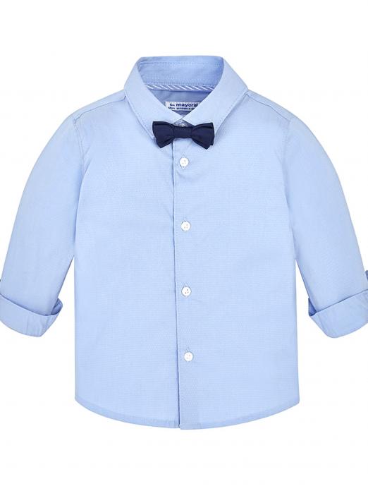 Conjunto menino camisa manga comprida com  laço Mayoral