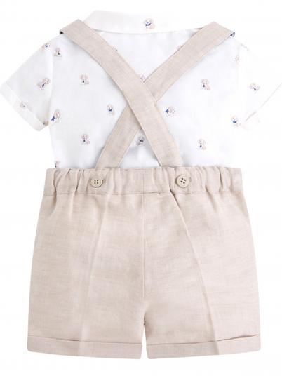 Conjunto baby menino camisa e calção Mayoral