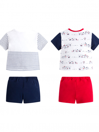 Conjunto Quatro Peças Baby Menino Camisa E Calção Mayoral