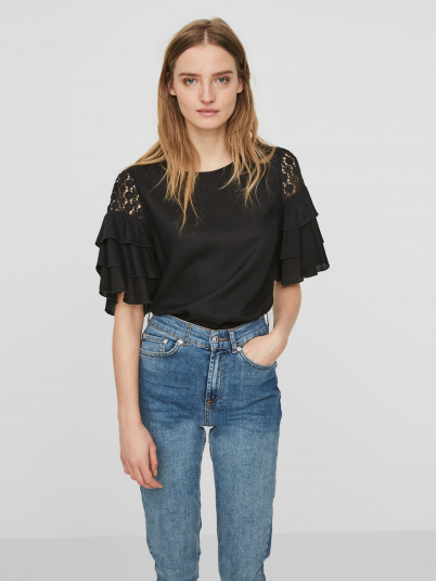 T-Shirt Woman Black Vero Moda