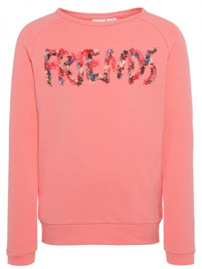 Sweatshirt Girl Coral Name It