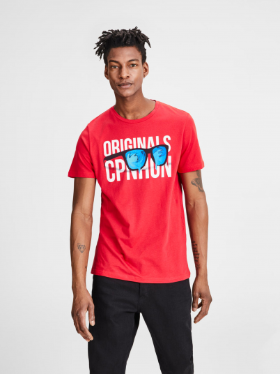 T-SHIRT HOMEM LIPS TEE CREW NECK JACK JONES