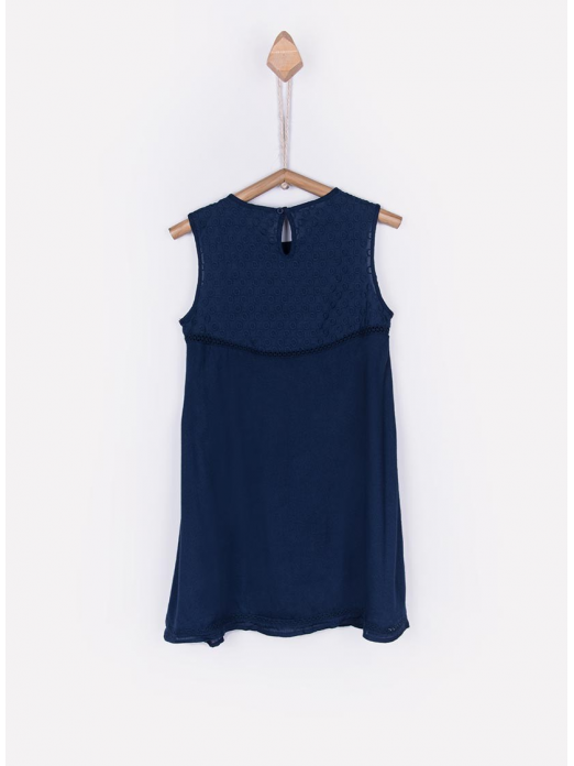 Dress Girl Navy Blue Tiffosi Kids