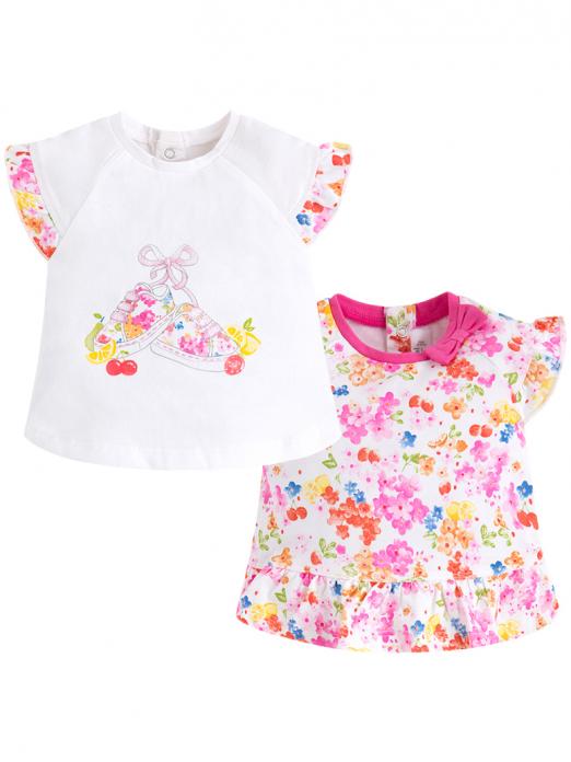 Pack 2 t-shirts de bebé menina Mayoral