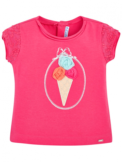 T-Shirt Baby Girl Rosa Fuchsia Mayoral