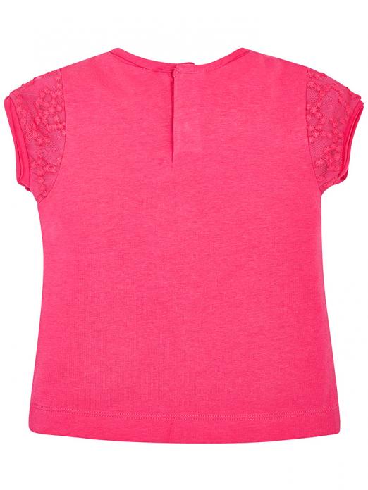 T-shirt para bebé menina com tule bordado Mayoral