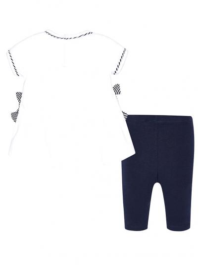 Conjunto baby menina leggings com laços Mayoral
