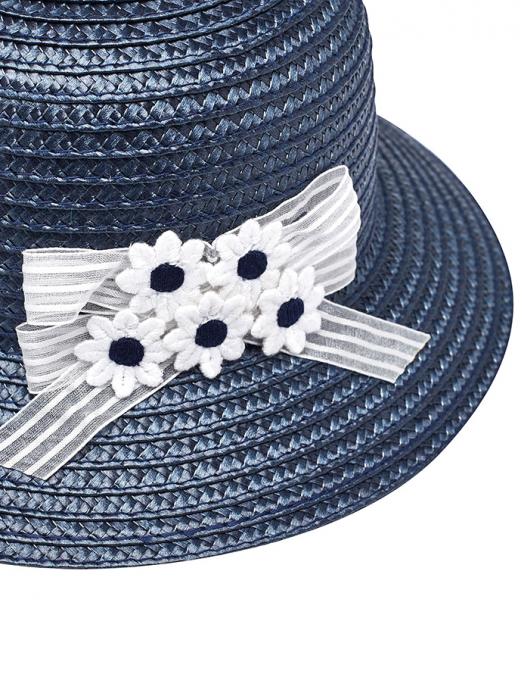 Chapéu com laço e flores para bebé menina Mayoral