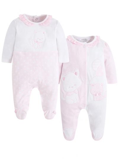 Dois Pijamas compridos bebé menina Mayoral