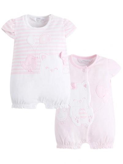 Pack dois pijamas curtos bebé menina Mayoral
