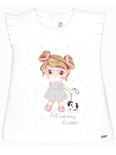 T-shirt bebé menina com print Mayoral