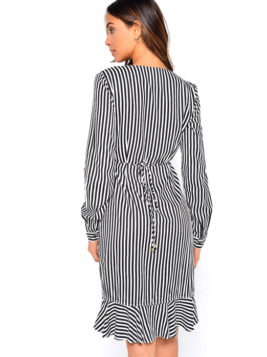 Dress Woman Black Stripe Vero Moda